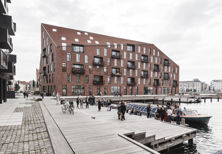 Krøyers Plads is a five-story housing project with a significant location in the centre of the Copenhagen harbour area designed by Danish architects...
