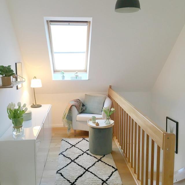 Flur im Obergeschoss #living #Skandinavisch #Flur #W…