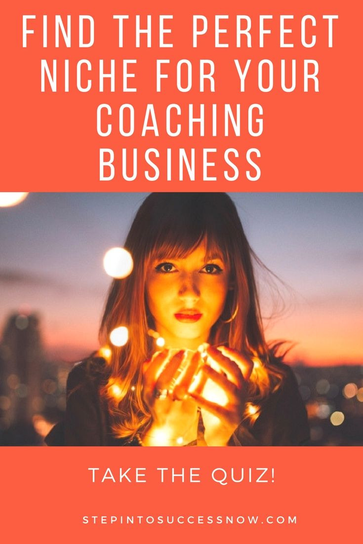How to find the right niche for your coaching business. Take this quiz now. https://candymotzek.lpages.co/perfect-niche-quiz-p/