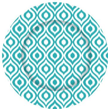 Blue Turquoise Ikat Charger Plate contemporary chargers