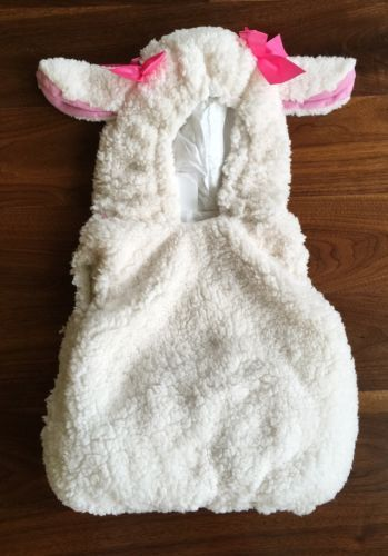 Lamb-Costume-Baby-Sheep-Halloween-Toddler-12-18M-Dress-Up-Play-Girls-Plush-Vest
