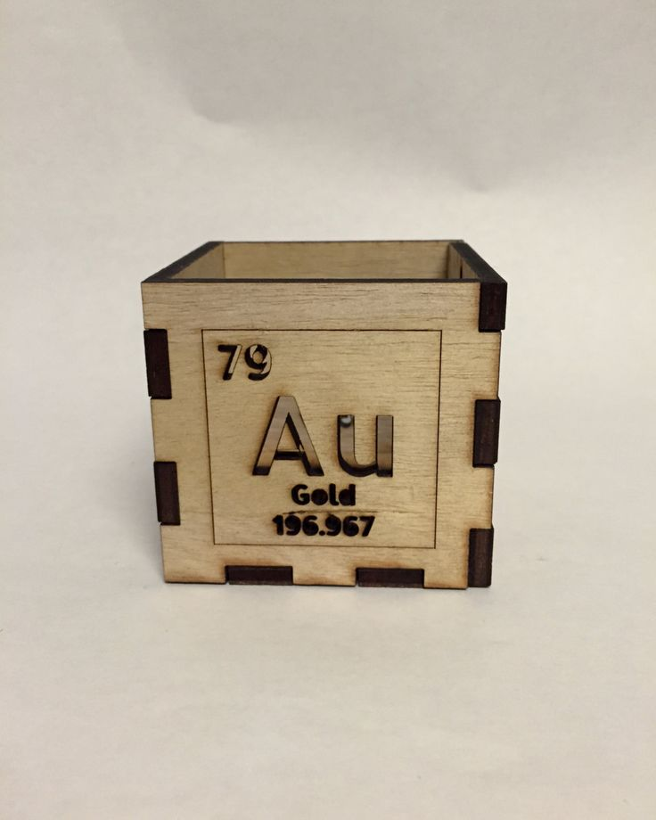 DIY kit Periodic Table lead and gold tealight lantern laser cut handmade wooden lantern