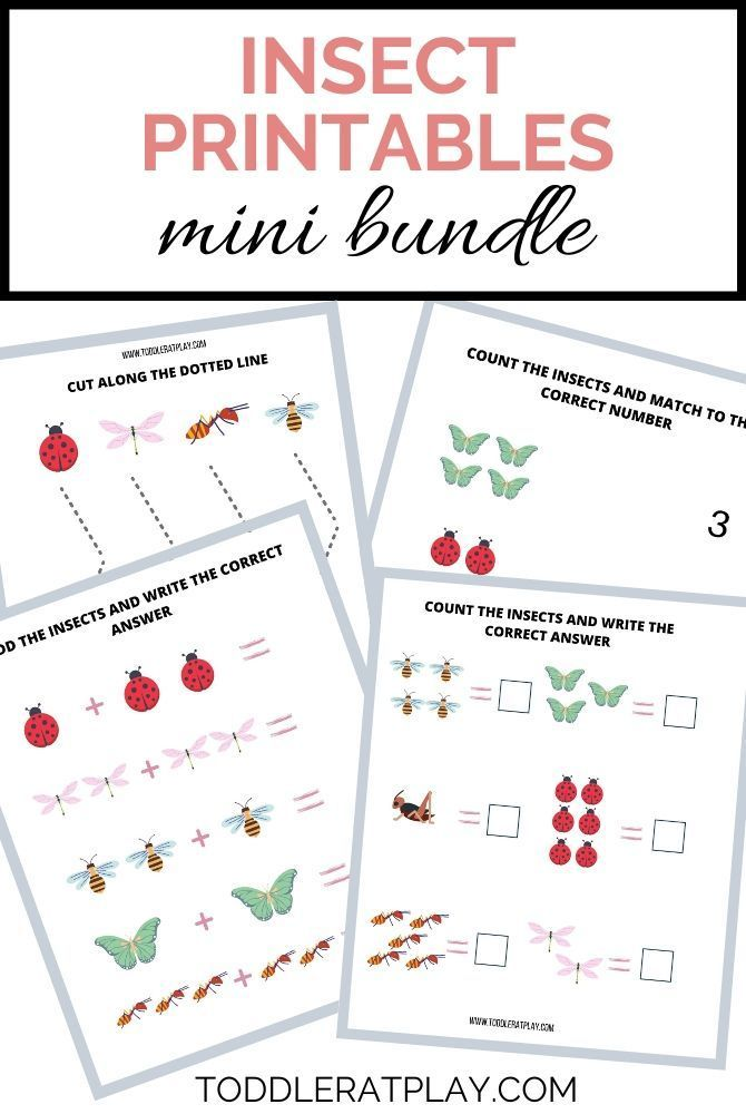 Insect Printables Mini Bundle Toddler At Play Kids Crafts Activities In 2020 Letter Activities Craft Activities For Kids Learning Letters