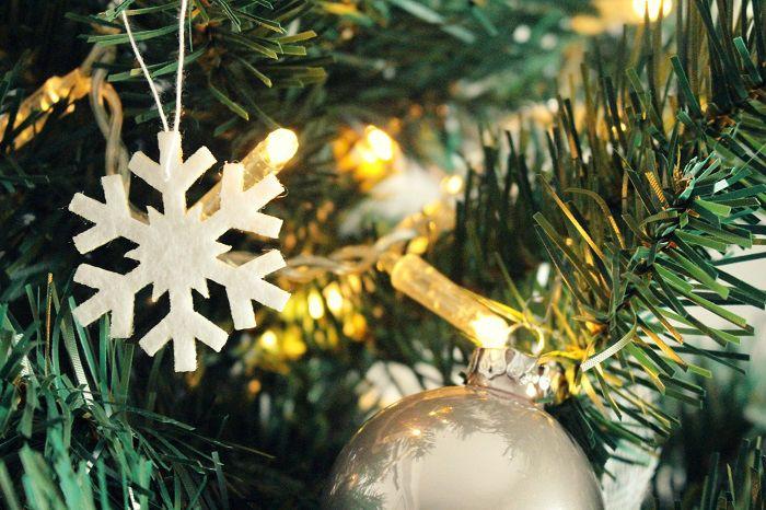 Schneeflocke Weihnachtsbaumschmuck basteln