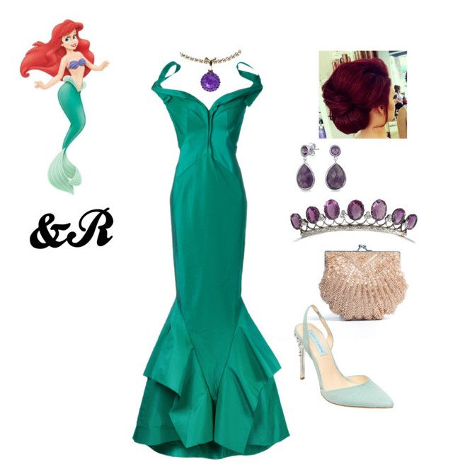 """""""Disney Inspiration : Ariel"""" by stylebydnr on Polyvore featuring Zac Posen, Disney, Bling Jewelry, Color My Life, La Regale and Betsey Johnson"""