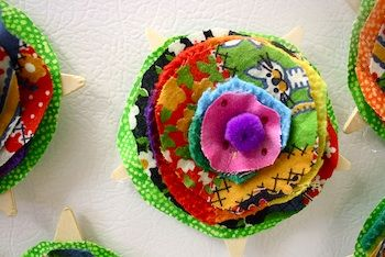 Beautiful easy to make fabric flower pins
