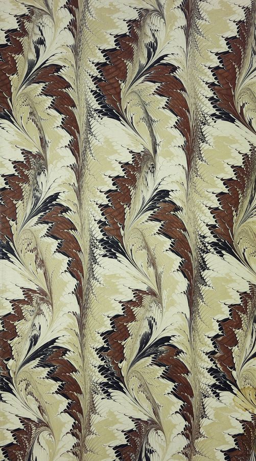 Marbled paper, maker unknown but probably Cockerell