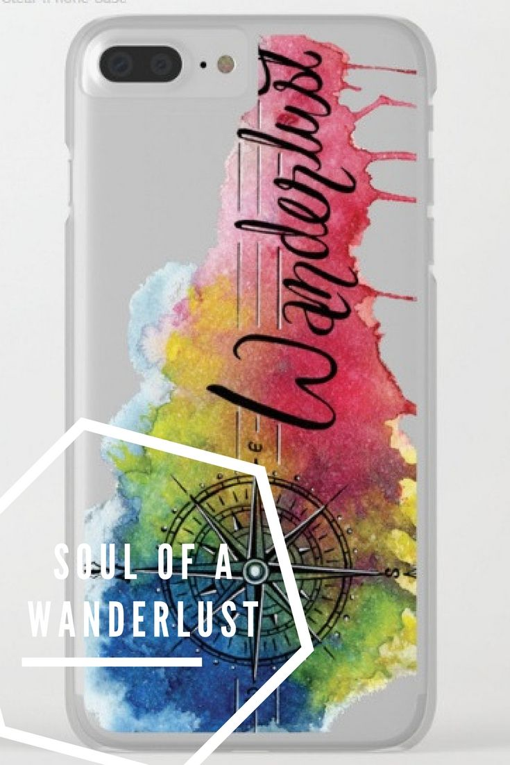 Shop clear iPhone cases featuring brilliant patterns and designs on frosted, transparent shells - created by the world's best independent artists.  . . . . . #wanderlust #traveller #travel #soul #color #watercolor #calligraphy #handlettering #typography #compass #splash #iphoneX #case #cover #society6 #print #sale #pattern #clearskin #iphone #gift #girlboss #painting