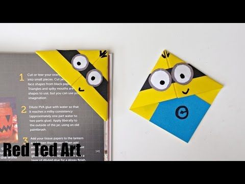 Easy Paper Monster & Owl Corner Bookmarks - YouTube