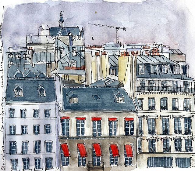 Quartier Beaubourg Paris 4ème #usk #urbansketchers #parisjetaime #sketchoftheday #beaubourg