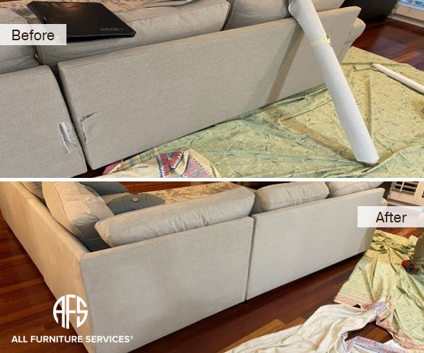 Fabric Couch Sectional Furniture Partial Part Replacement Torn Tear Back Change Parts Install Fix Delivery Damage In 2020 Couch Fabric Sectional Furniture Furniture