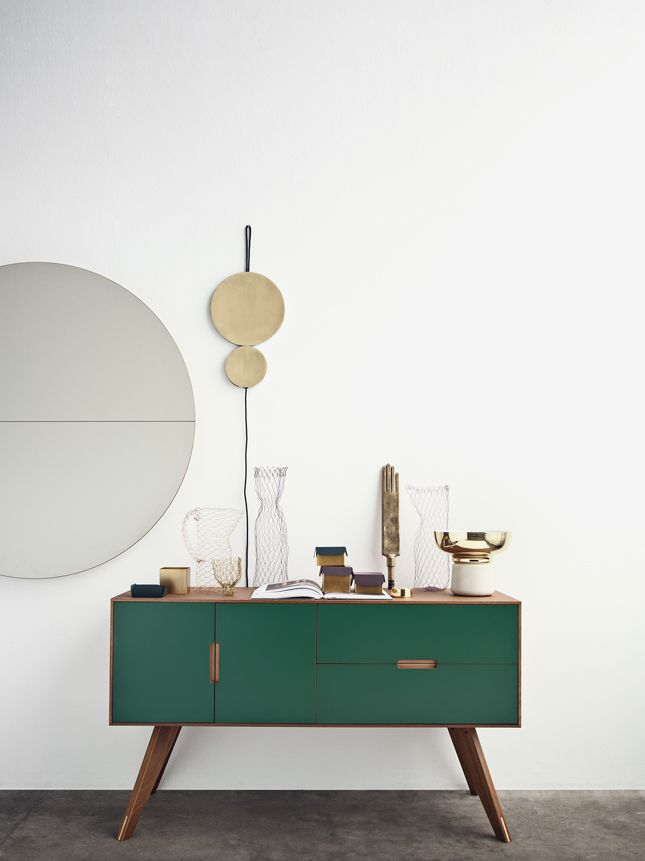 Liking the green, wood and brass combo - nice shapes