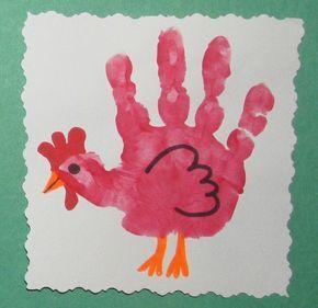 Handabdruck Bilder, die man mit Kleinkindern gern bastelt