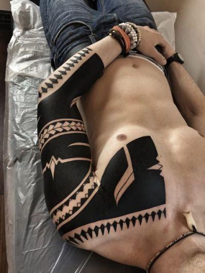 Freehand Blackwork Tattoo by Hanumantra