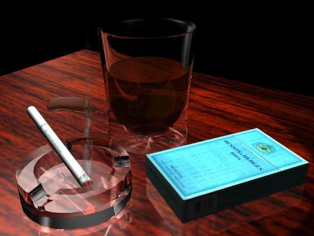 trago y cigarros
