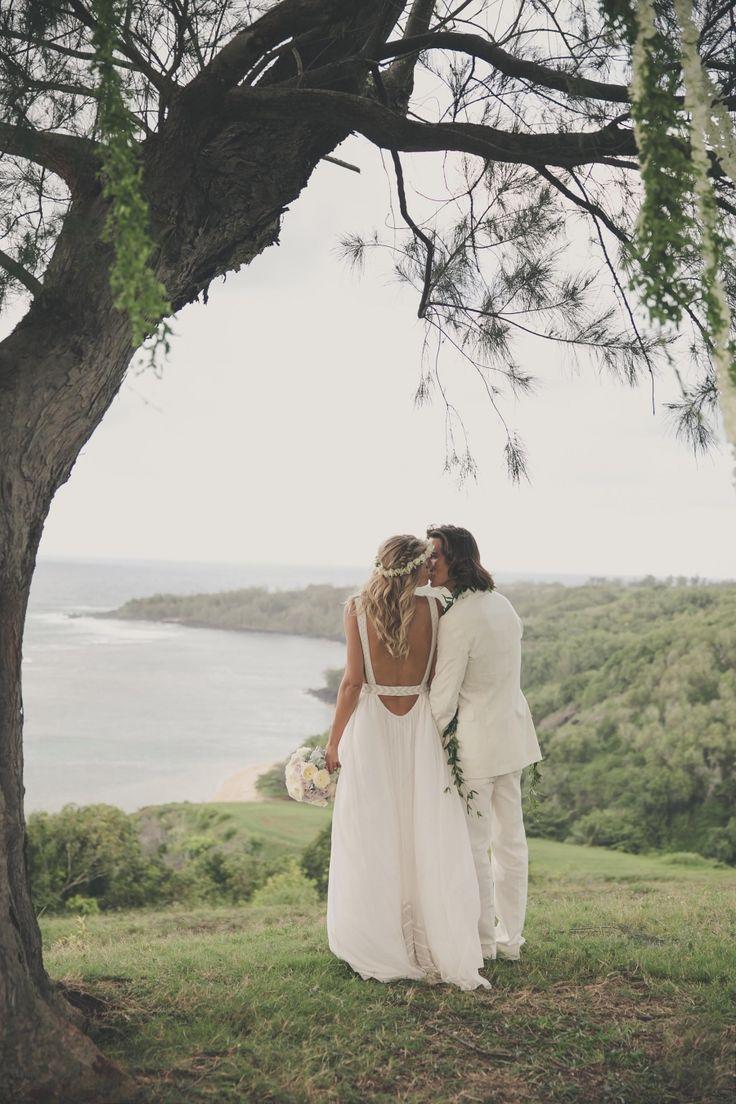 Model Tori Praver + Surfer Danny Fuller's Bohemian Kauai Wedding | Kauai, Hawaii Wedding