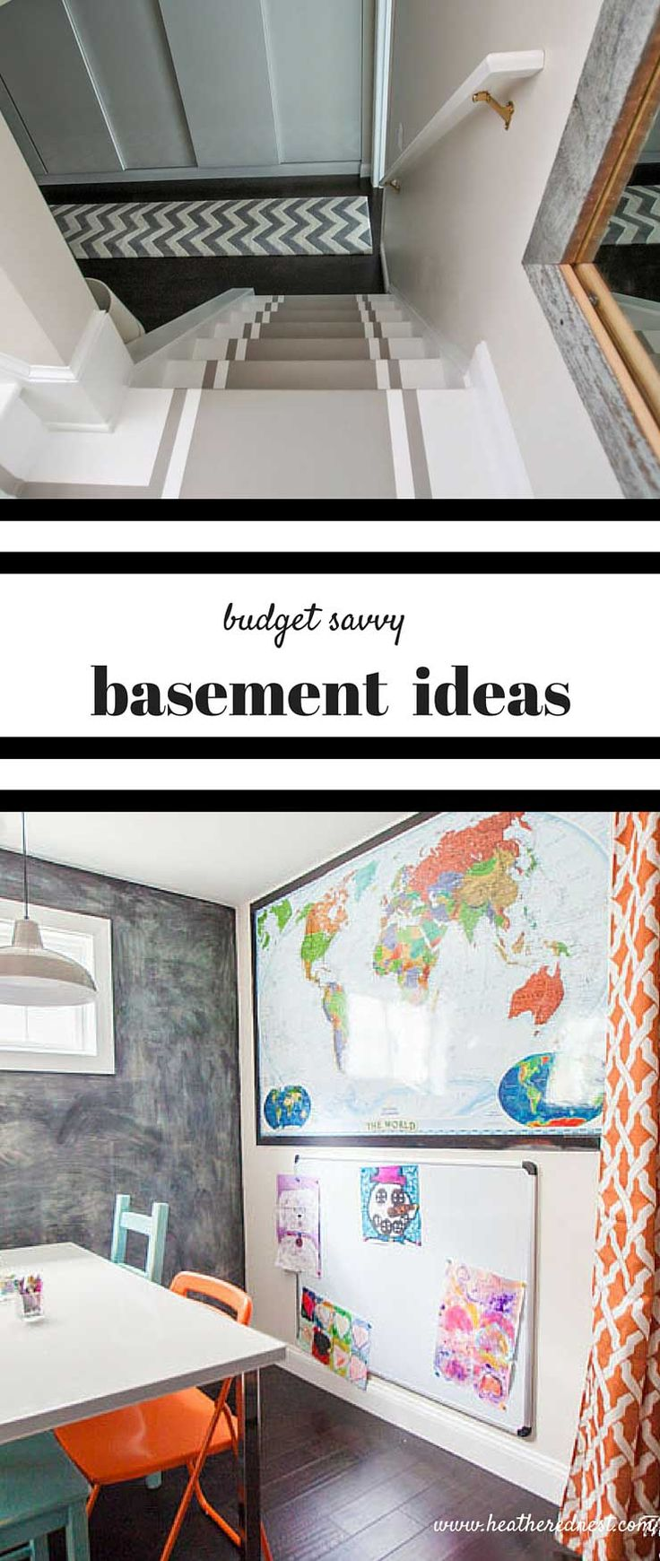 Beautiful Basement Makeover On A Budget