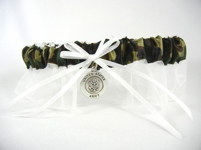 Army Wedding Garter - Army Bridal Garter - Military Bridal Garters for Air Force, Army, Marines, Navy and Coast Guard