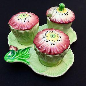Carlton ware, pale green poppy cruet set | eBay