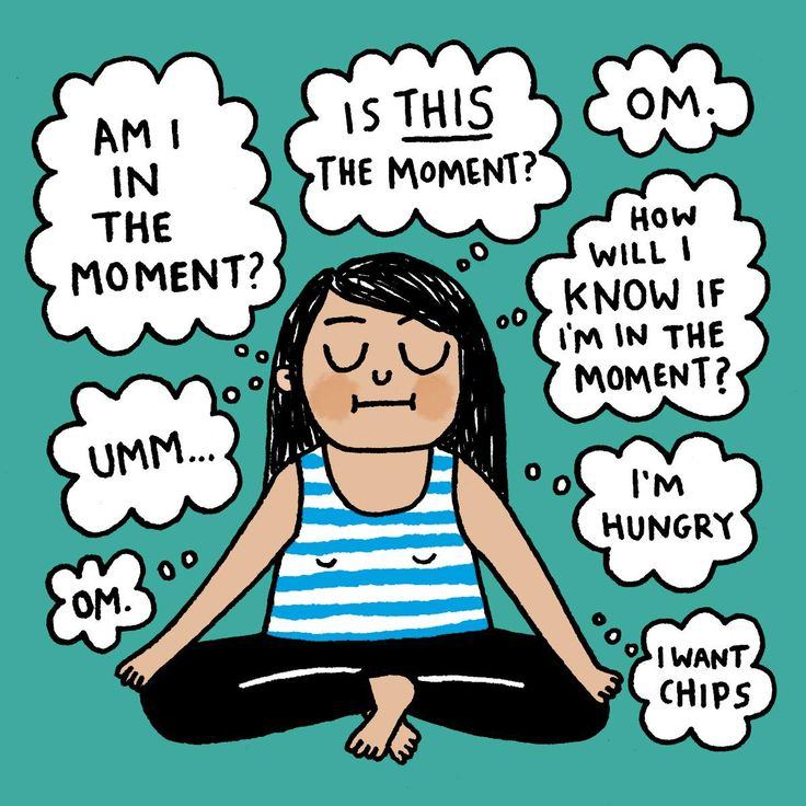 Meditation. Yoga funny Cartoon By Gemma Correll