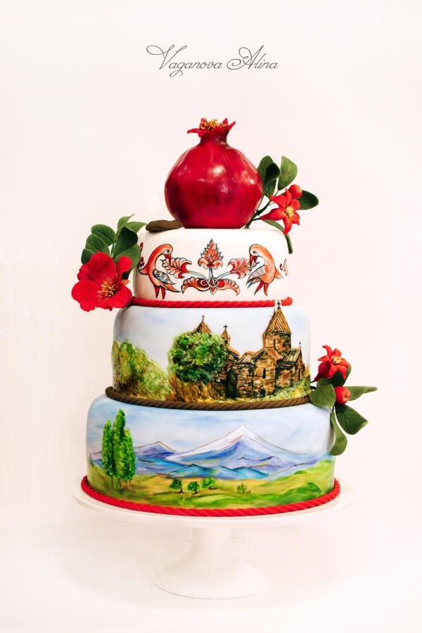 Аnniversary cake with Armenian landscape - Cake by Alina Vaganova
