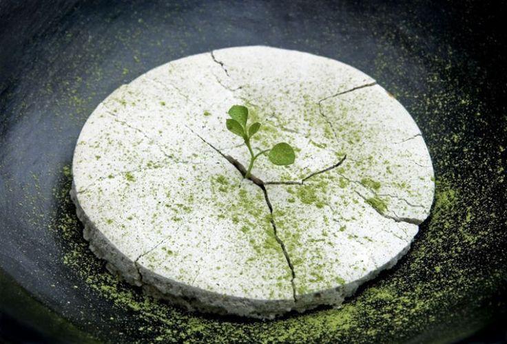 «Earthquake», du chef Rodolfo Guzman, reproduit un tremblement de terre avec une meringue. (Photo Araceli Paz) - Expo . Au Palais des Beaux-Arts, à Paris, «Cookbook» confronte le travail de vingt chefs cuisiniers à celui de plasticiens. Un accord savoureux.