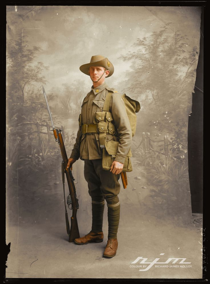 Corporal Walter Norman Ellis, Service Nº1917 27th Battalion and the 5th Machine Gun Battalion, 1st Australian Imperial Force. Summer 1915 colourised By RJM