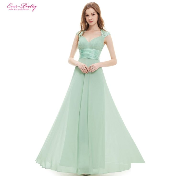 Bridesmaid Dresses V-neck Sequins Chiffon Empire Long Bridesmaid Dresses 2016 HE09672WH Mint Green White Coral Plus Size