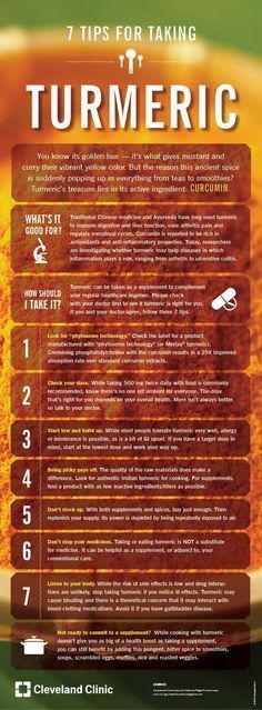7 Tips for Taking Turmeric by clevelandclinic #Infographic #Turmeric