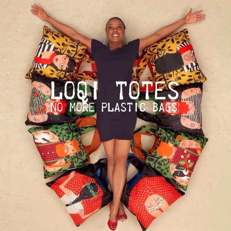 No more plastic bags! Use a Loqi tote!