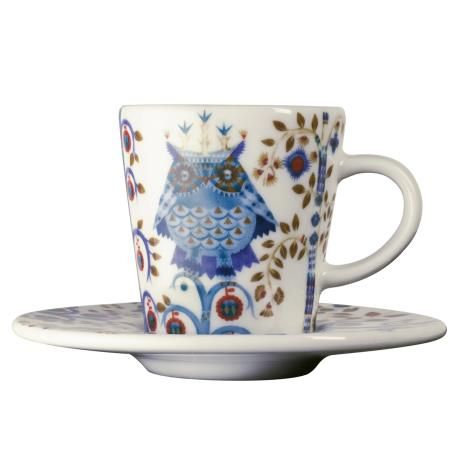 White Taika cup and saucer
