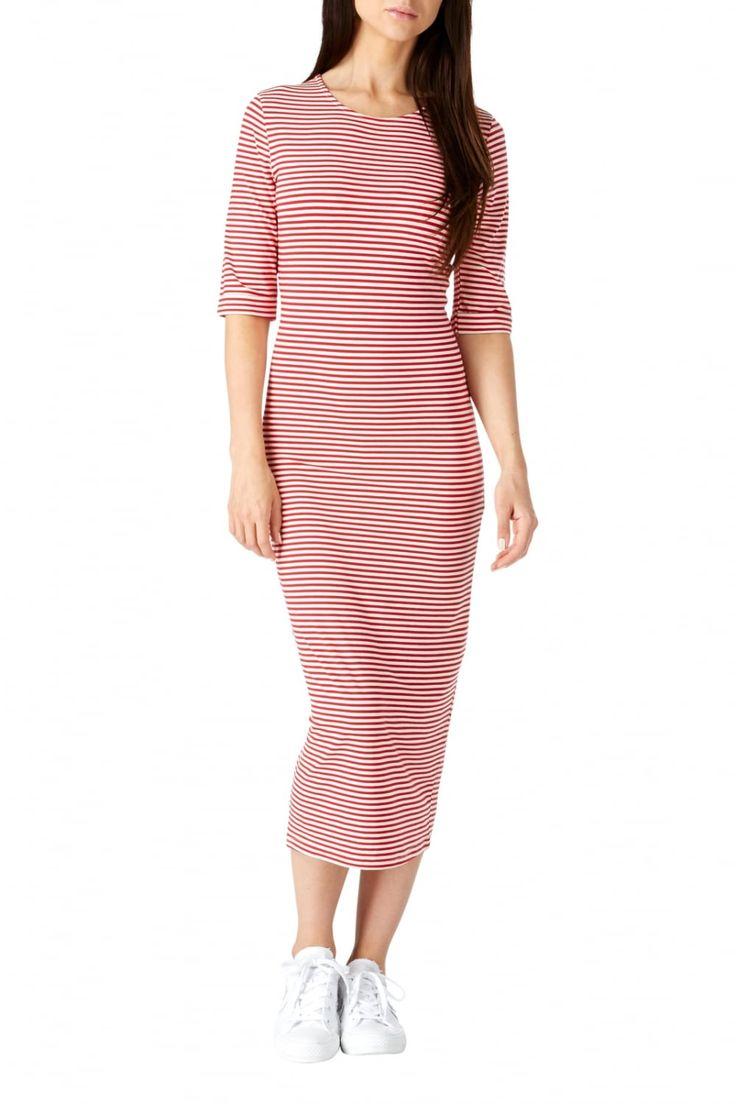 Sugarhill Boutique Octavia Red Stripe Bodycon Dress