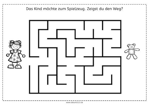 Einfachere Labyrinthe, Labyrinthe, Wahrnehmung, räumliche Orientierung, visuelle Wahrnehmung, Arbeitsblatt, kostenlos, Eltern, Kinder, Legas...