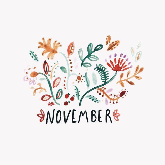 Happy November by @RosieHarbottle
