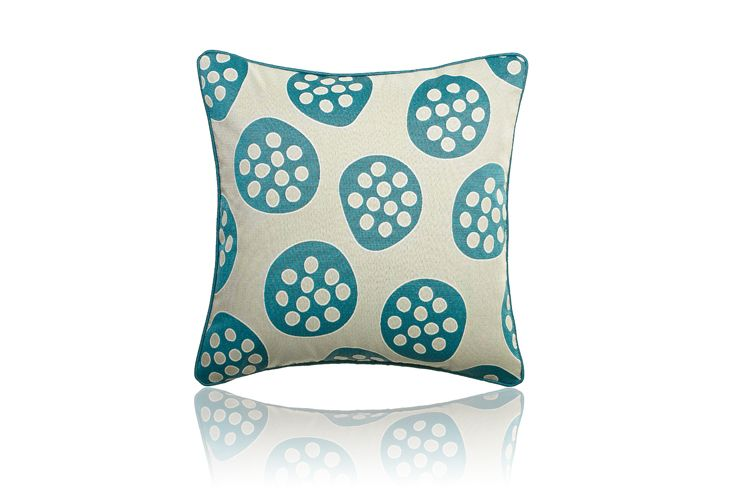 Pod Teal Large Decorative Hotel Cushion by HotelHome #hotelhome #hotelcushion #turquoise #aqua #teal