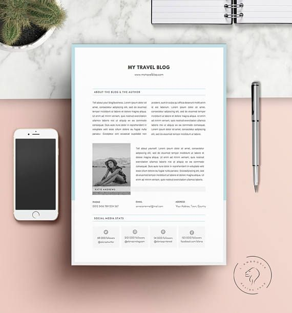 #Downloadable #Media #Kit Templates | #Pitch #Kit #Templates  | #MS #Word #Template