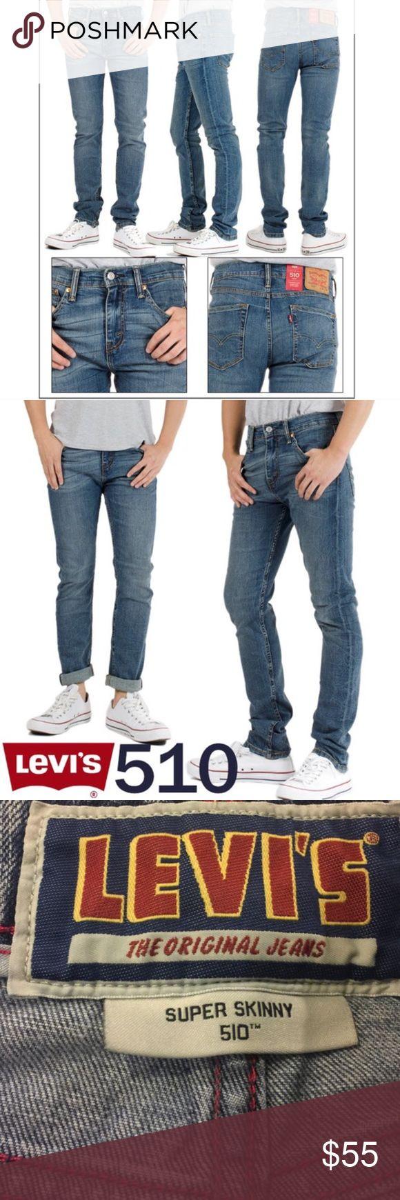 Men's Levi's 510 Super Skinny Perfectly broken in super skinny Levi's jeans in a light/dark combo wash. Waist 30 / Length 30. Levi's Jeans Skinny