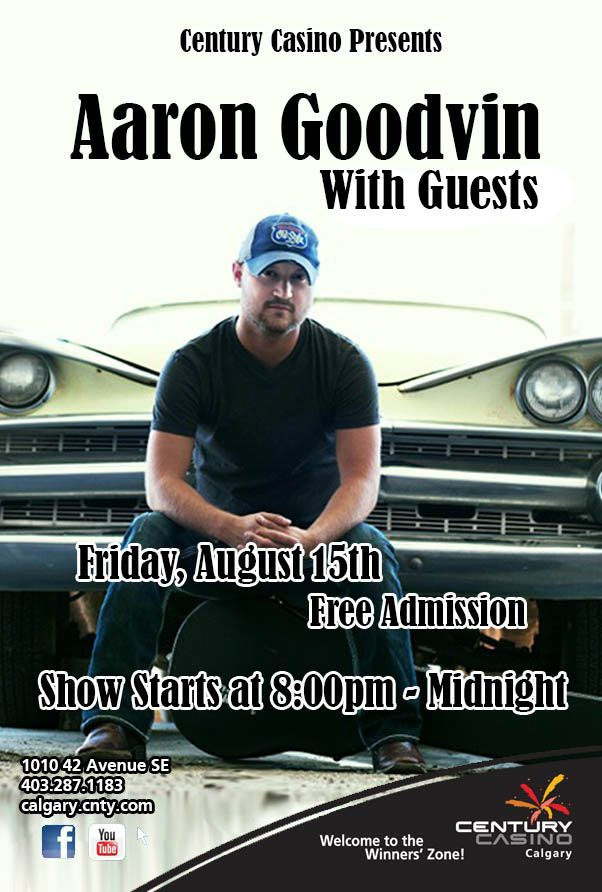 TONIGHT in YYC Aaron Goodvin & Band! Kicking the night off with our Summer Sendoff Songwriters Round:Hosted by Aaron incl. Georgie Lyons, Amy Metcalfe, Ron McNeill & JJ Shiplett! Doors at 8pm