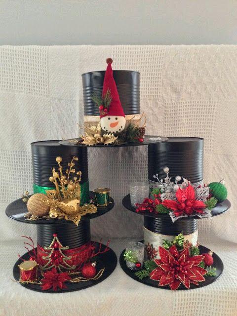 más y más manualidades: Recicla latas para crear bellas decoraciones navideñas