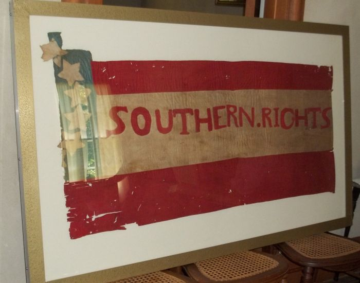 Confederate Flag-Captured @ Battle of Athens-August 5, 1861 (Louie Zenti built frame).jpg
