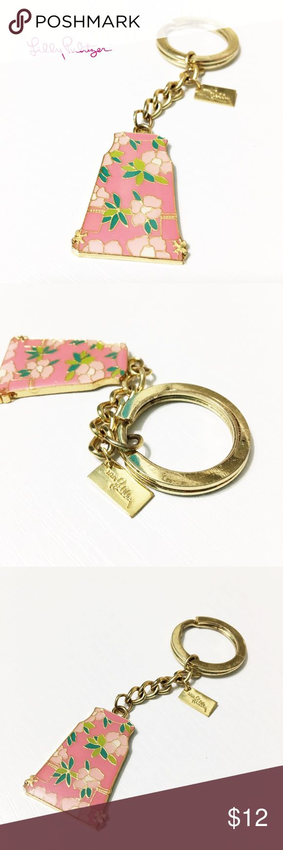 Lilly Pulitzer Shift Dress Keychain The perfect place to keep your keys! From Lilly Pulitzer and adorable. In great condition. Questions? Please ask. Sorry, no trades. Bundle for a discount! Lilly Pulitzer Accessories Key & Card Holders