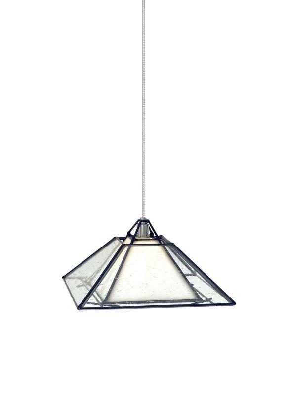 Tech Lighting 700MOOAKBW MonoRail Oak Park Craftsman-Style Clear Seeded Glass Pe Satin Nickel Indoor Lighting Track Lighting Pendants