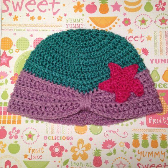 Ariel The Little Mermaid Crochet Turban Hat by CuteCreationsByDany