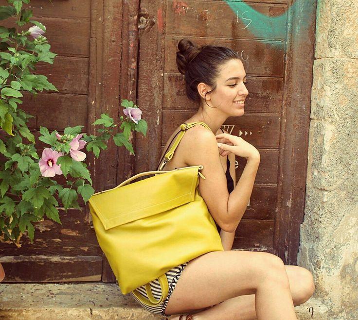 Pottier bag ,shoulder bag , backpack leathet