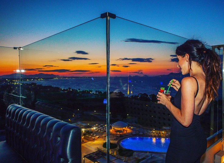 Amazing views over the Aegean sea from the Red Loft Bar at Kipriotis Panorama Hotel & Suites. #RedSkyBar #SkyBar #KipriotisHotels #KosIsland #BarView