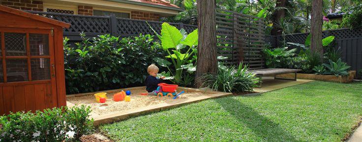 Sandpit in a Sydney garden design