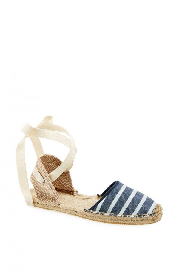 Soloudos Espadrille Sandal (Women) | Fashiondoxy.com  Description - Free shipping and returns on Soloudos Espadrille Sandal (Women) at Fashiondoxy.com. Wraparound grosgrain laces detail a breezy espadrille sandal with a cutout at the heel