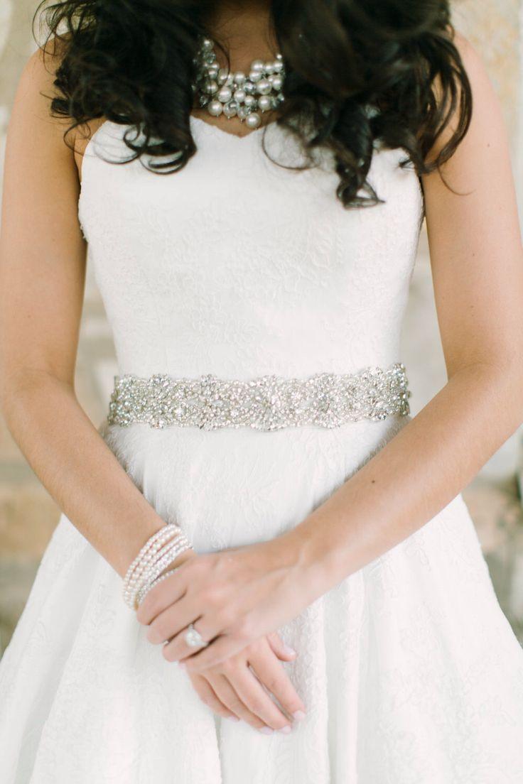 Handmade crystal bridal belt rhinestone pearl luxury wedding dress - Swarovski Pearl Rhinestone Wedding Dress Sash S2 By Bigrockbridal On Etsy Https