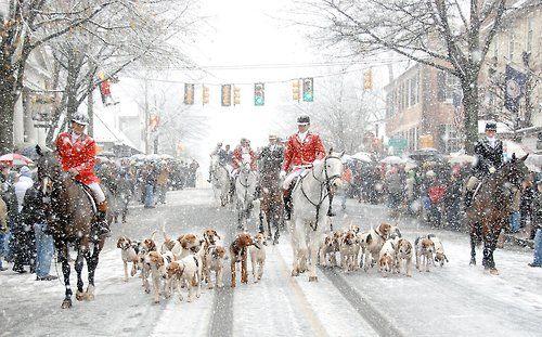 Middleburg, VA- Christmas Fox Hunt Parade