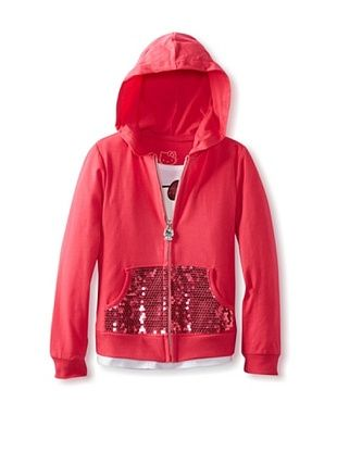58% OFF Hello Kitty Girl's Mock Tank Hoodie (Rose)